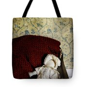 Waiting In The Crib Tote Bag