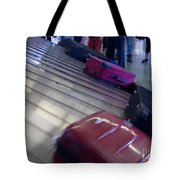 Waiting People Claim Baggage Airport Conveyor Belt Tote Bag