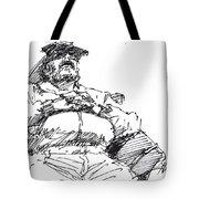 Waiting Room Nap Sketch Tote Bag