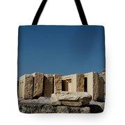 Waiting Tablets At Acropolis Tote Bag