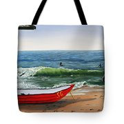 Waiting To Row Tote Bag