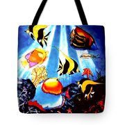 Waking Up In Oil Tote Bag
