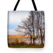 Walk Along The River Bank Tote Bag