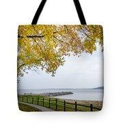 Walk Along The Shoreside Tote Bag