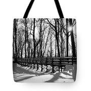 Sunset On Trail Bridge Tote Bag