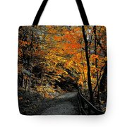 Walk In Golden Fall Tote Bag