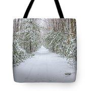 Walk In Snowy Woods Tote Bag