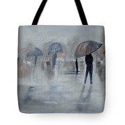 Walk In The Rain Tote Bag