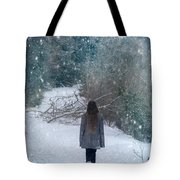 Walk In The Snow Tote Bag