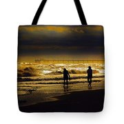 Walk In The Surf Colored Tote Bag