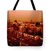 Walk Of Fame Hollywood In Orange Tote Bag