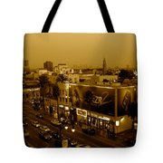 Walk Of Fame Hollywood In Sepia Tote Bag