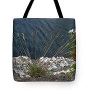 Flowers In Rock Tote Bag