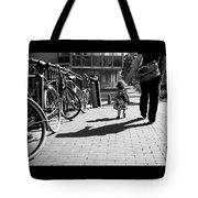 Walk Safely Little Girl  Tote Bag