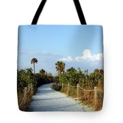 Walk Way To Beach Tote Bag by Kathleen Struckle