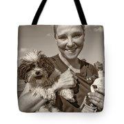 Walkies Sepia Tote Bag by Steve Harrington
