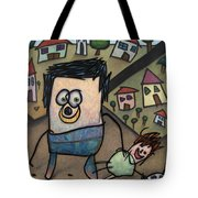 Walkin The Dog Tote Bag