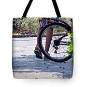 Walking And Biking Tote Bag