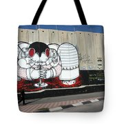 Walking By The Wall Tote Bag