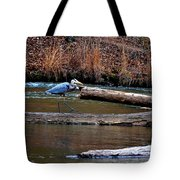 Walking Heron Tote Bag