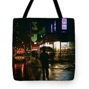 Walking Home In The Rain Tote Bag