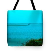 Walking In The Water At Isle Of Palms Tote Bag