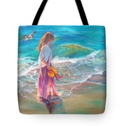 Walking In The Waves Tote Bag