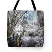 Walking Into The Infrared Jungle 2 Tote Bag