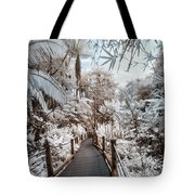 Walking Into The Infrared Jungle 3 Tote Bag