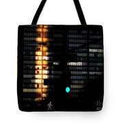 Walking Man - Architecture Of New York City Tote Bag