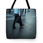 Walking On A Train Station Tote Bag