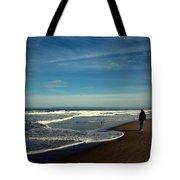 Walking On Seaside Beach Tote Bag
