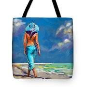 walking on the beach More Color Tote Bag