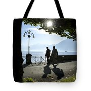 Walking On The Lakefront Tote Bag