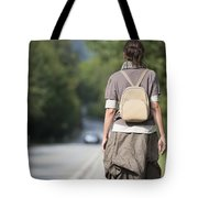 Walking On The Road Tote Bag