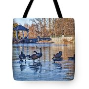 Walking On Thin Ice Tote Bag