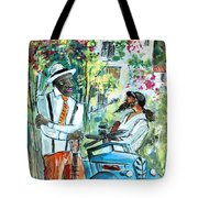 Walking Stick Man At The Blues Festival In Cazorla Tote Bag