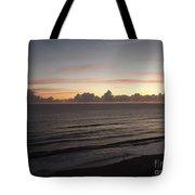 Walking The Beach At Sunrise Tote Bag