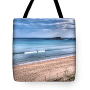 Walking The Beach On A Peaceful Morning Tote Bag