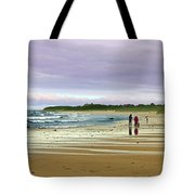 Walking The Dog After A Storm Tote Bag
