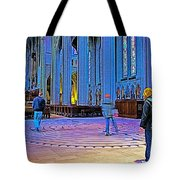 Walking The Indoor Labyrinth In Grace Cathedral In San Francisco-california Tote Bag