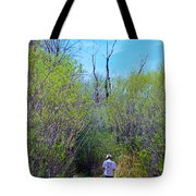 Walking The Ox Bow Tote Bag