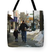 Walking With Dad Tote Bag