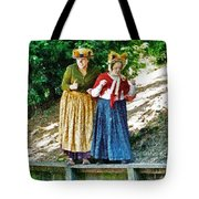 Walking With Squirrels  Tote Bag