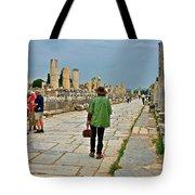 Walkway To Harbor In Ephesus-turkey Tote Bag