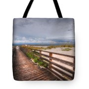 Walkway To The Beach At Romar Access Tote Bag