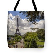 Walkway To The Eiffel Tower Tote Bag