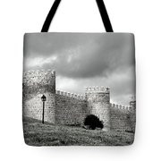 Wall Against Clouds Tote Bag