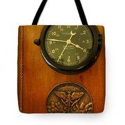 Wall Clock And Plague Tote Bag