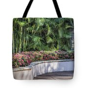 Wall Of Flowers Tote Bag